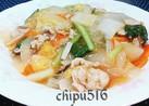 簡単子供が喜ぶ!残り物白菜と野菜の中華丼