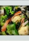 ■簡単副菜■キャベツ卵かにかま海苔あえ昼
