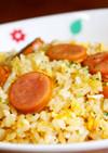 時短簡単ランチ☆卵とウインナーの炒めご飯