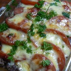 ひき肉とチーズのオーブン焼き