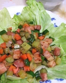 彩鮮やか♪簡単☆コロコロ野菜の炒め物