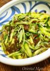 市販もずく酢de胡瓜と水菜の和物