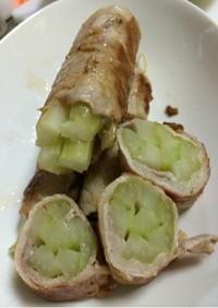 肉巻きセロリ★葉っぱごと!