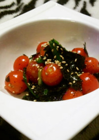 トマトと韓国海苔でナムル?風