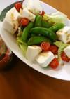 スナップえんどうと豆腐のWahooサラダ