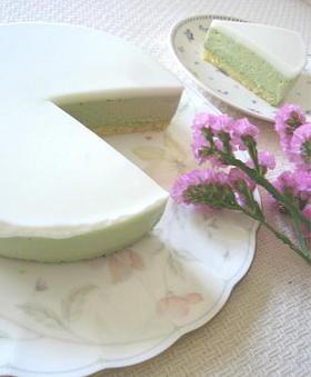 美味しい和。抹茶のレアチーズ。