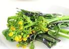 オーブントースターで菜花・紅菜苔のグリル