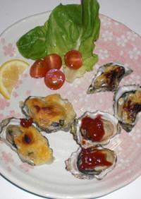 簡単な焼き牡蠣三昧