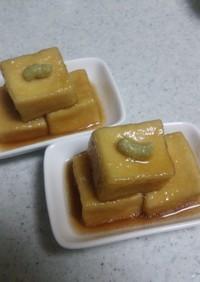 もっちり~生麩みたい♡高野豆腐の揚げ煮
