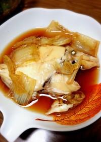 カワハギ(はげ)と白菜の煮付け