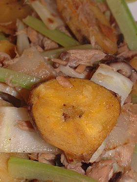 バナナの野菜炒め