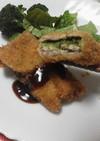 お弁当にも☆緑とチーズのミルフィーユカツ