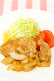 定食屋風❢豚肉の生姜焼きの写真
