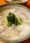 鶏ガラスープの水餃子