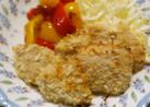 簡単♪鶏肉のサクサクパン粉焼き