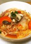 豆料理:豆入り野菜スープ