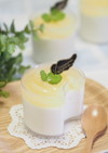 桃缶で♡桃のヨーグルトレアチーズ♡