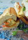 バインミー風(厚)揚げ豆腐のサンドイッチ