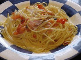 生トマトのスパゲティー