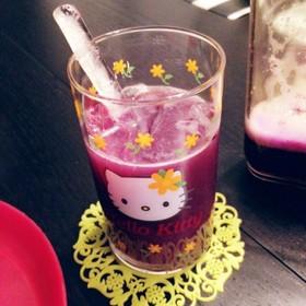 紫キャベツのコールドプレスジュース♡