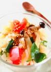 トマト・しめじ・クレソンのライスサラダ