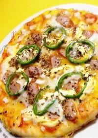 フライパンで♥ご飯入りもっちりライスピザ