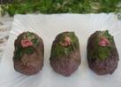お花見に✿ 甘辛醤油味♪桜の肉巻きお握り