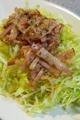 春キャベツとベーコンの簡単サラダ