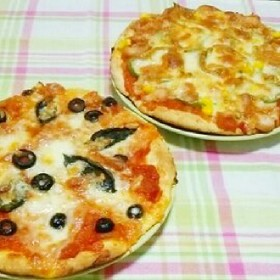 簡単*ミニおからピザ*