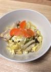 めんつゆで簡単!キャベツと高野豆腐の煮物