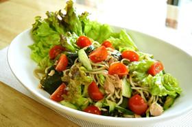 【ダイエット】簡単サラダ蕎麦レモン風味♪