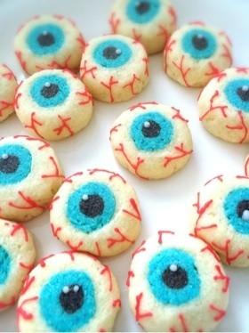 ハロウィン☆目玉スノーボールクッキー