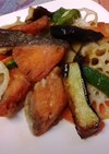 鮭のカラッと揚げ物野菜