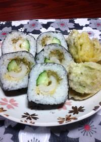 春です!ふきのとう★竹輪天・太巻き寿司♪