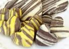 友チョコおしゃれかわいいゼブラ柄クッキー