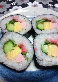 お花見・行楽・ひな祭り☆桜太巻き寿司♪