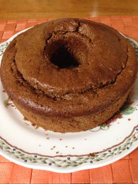 コーヒー&チョコの濃厚Wシフォンケーキ