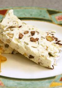 カッサータ:アイス・リコッタチーズケーキ