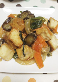 激ウマ! 厚揚げとたっぷり野菜の味噌炒め