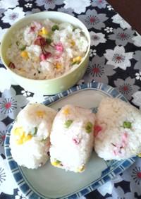 春行楽☆炊飯器で簡単!桜おこわ&おにぎり