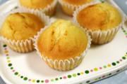 レモンジャムとリコッタチーズのマフィンの写真