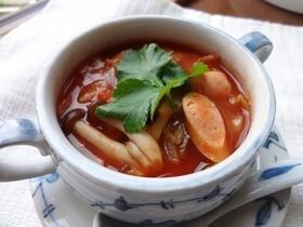 酸味まろやか トマトとキャベツのスープ