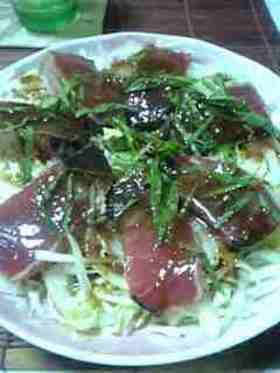 鰹のカルパッチョ・・バルサミコソース