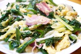 卵とほうれん草の中華炒め