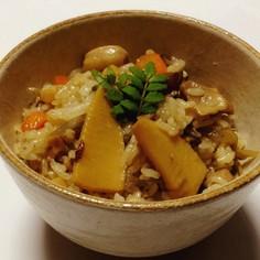 竹の子混ぜご飯、吉野の鷄めし風