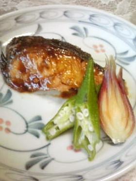 魚の山椒味噌焼き