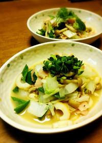 白菜とベーコンのマヨ炒め