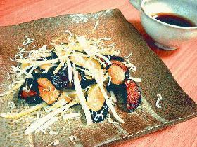 茄子とセロリのサラダ