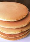 どシンプル小麦粉から作るホットケーキ
