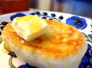 オシャレに休日の朝食 クランペット の写真